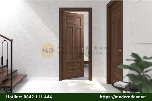 Cửa gỗ công nghiệp với độ bền tương đối