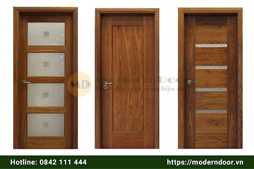 Cửa gỗ tự nhiên mang đến sự sang trọng cho gia chủ