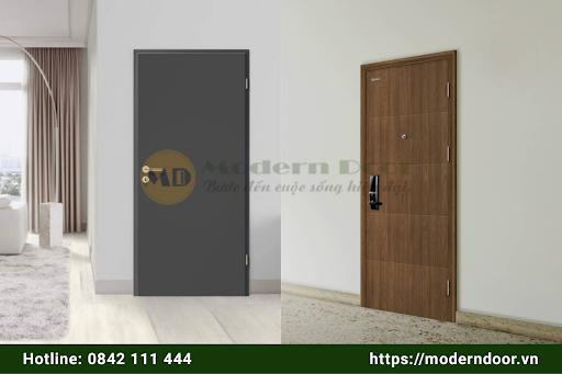Mẫu cửa gỗ chống cháy đơn giản, hiện đại