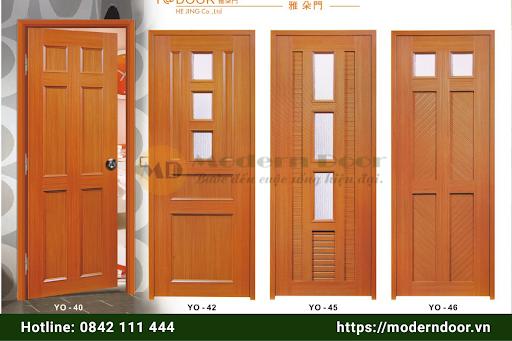 Mẫu cửa nhựa gỗ Sungyu đẹp