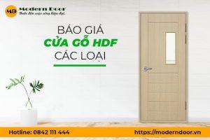 [BÁO GIÁ] Cửa gỗ HDF, HDF Veneer giá từ 1.950.000đ/bộ