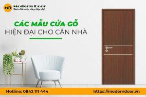Tổng hợp các mẫu cửa gỗ hiện đại đẹp nhất hiện nay