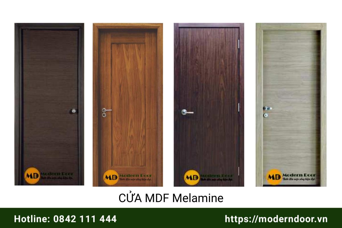 các mẫu cửa gỗ công nghiệp MDF Melamine đẹp