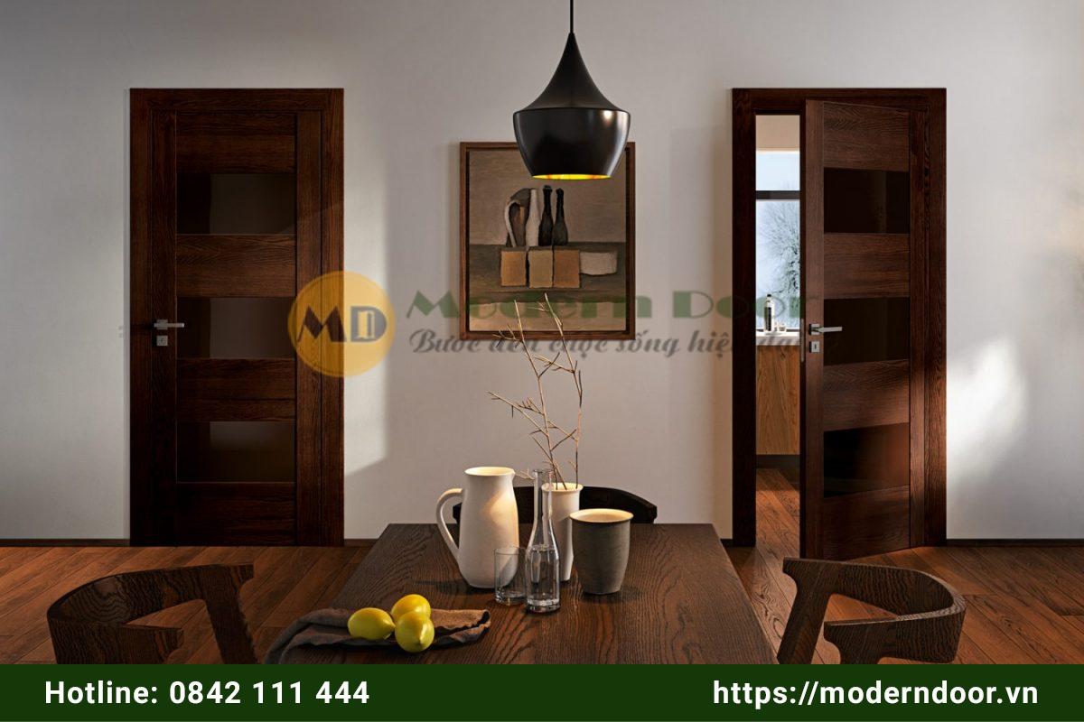 Cửa gỗ công nghiệp cổ điển phòng bếp, nhà wc