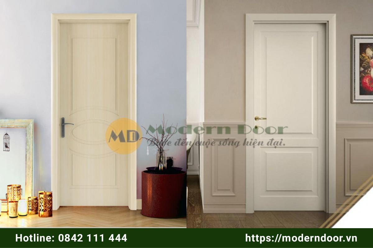 Mẫu cửa gỗ công nghiệp cổ điển tối giản