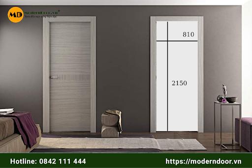 cửa gỗ công nghiệp kích thước chuẩn