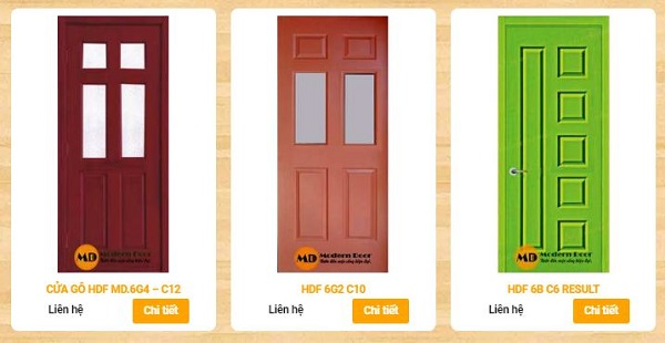 cửa gỗ giá rẻ HDF