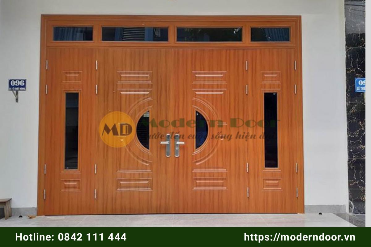 Mẫu cửa nhà vân gỗ