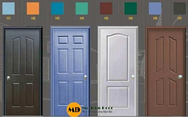 Cửa nhựa đa dạng về kiểu dáng và màu sắc