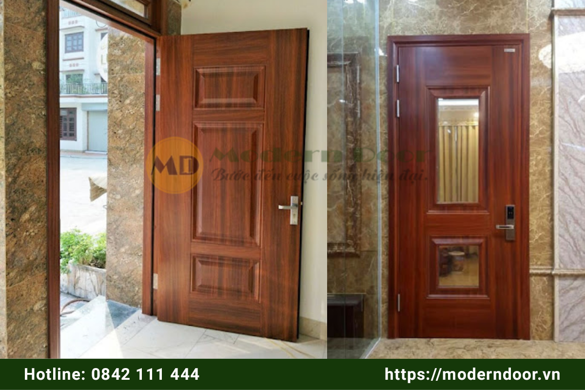 Mẫu cửa phòng khách bằng gỗ 1 cánh