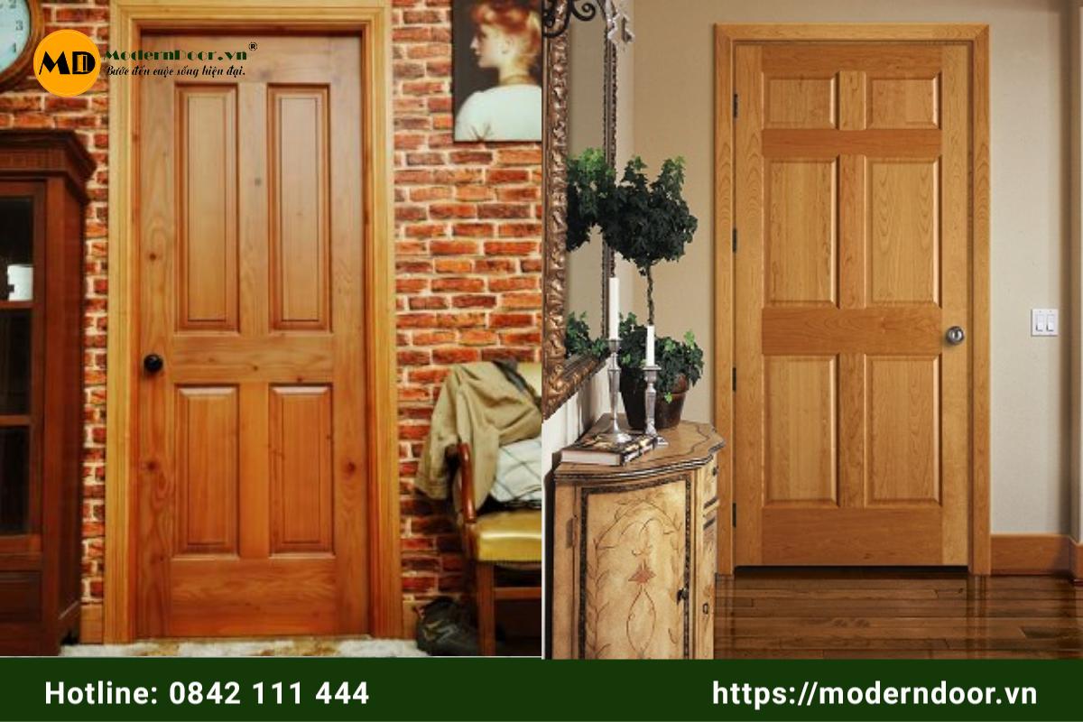 kích thước cửa gỗ công nghiệp HDF