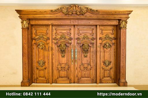 Mẫu cửa gỗ HDF Modern Door