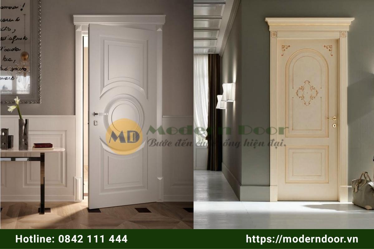 cửa gỗ công nghiệp cổ điển
